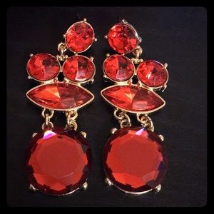 💋Ruby Red Earrings💋